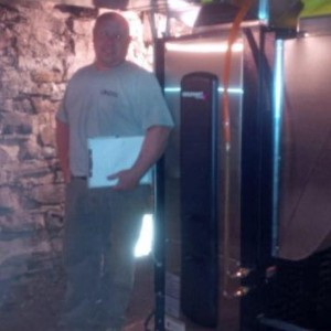 Andy Veinotte installing his first premiumv variable speed geothermal heathellip