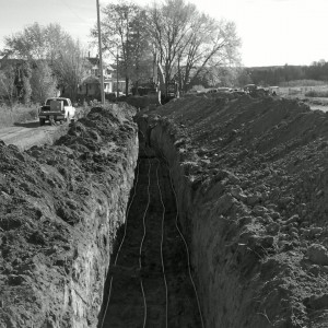 1st trench backfill boylemechanical geosmartenergy geothermalspecialist