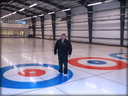 finished ice rink