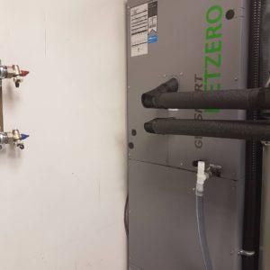 GeoSmart NetZero hydronic air handler install
